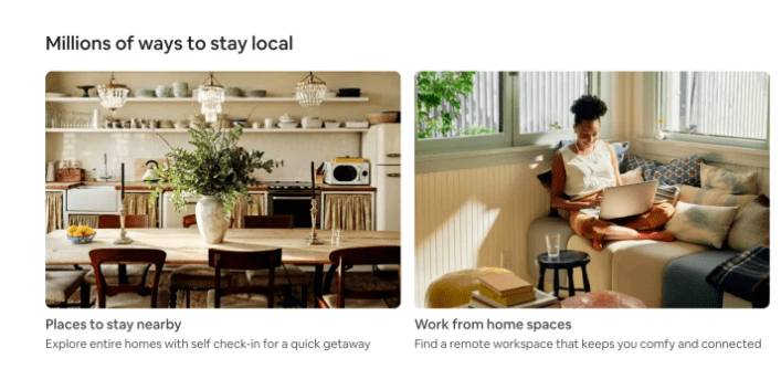 airbnb offers local stays
