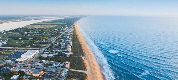 aerial image of florida beachfront