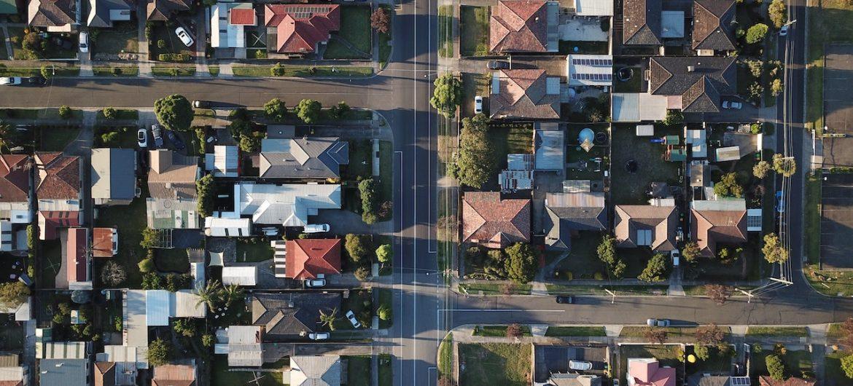 suburban arial view