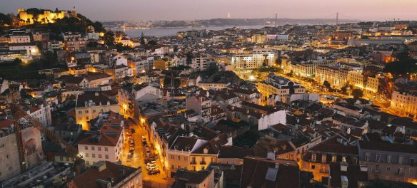aerial of Lisbon